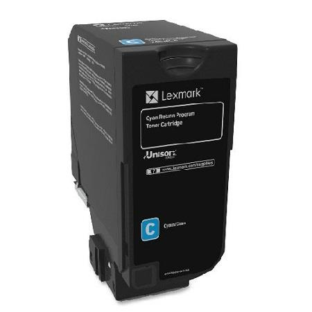 Lexmark 74C10C0 Cyan Original Toner Cartridge