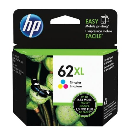 HP 62XL Colour Original High Capacity Ink Cartridge (C2P07AN)