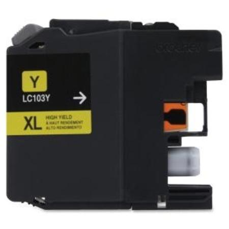 Brother LC103Y Yellow Compatible High Capacity Ink Cartridge