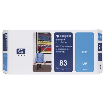 HP 83 (C4961A) Cyan Original UV Printhead and Cleaner