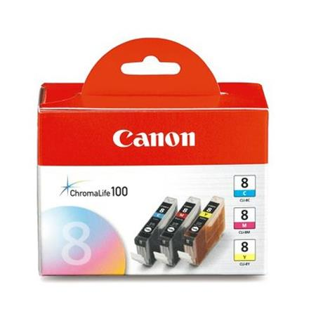 Canon CLI-8 (0621B016) Color Original Ink Cartridge -3 Pack