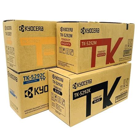 Kyocera TK-5292K/C/M/Y Full Set Original Standard Capacity Toner Cartridges