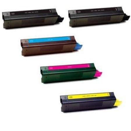 Compatible Multipack Okidata 41963001/02/03/04 Full Set + 1 EXTRA Black Toner Cartridges
