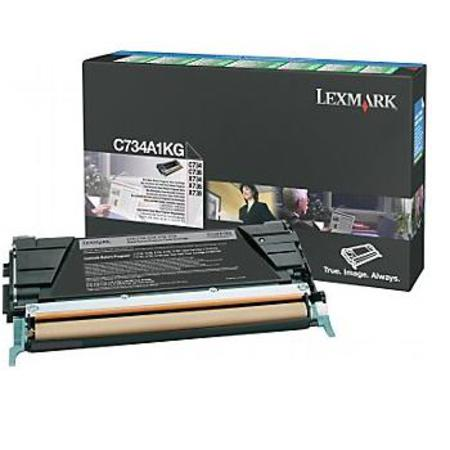 Lexmark C734A1KG Black Original Return Program Toner Cartridge