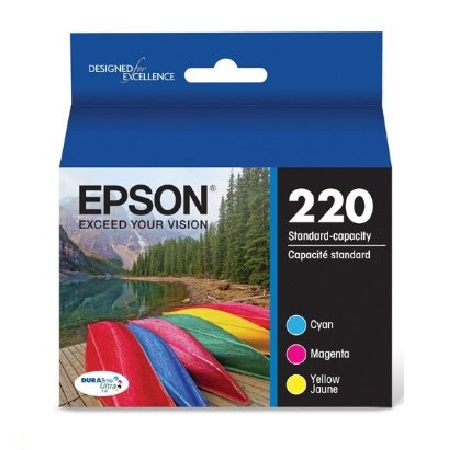 Epson DURABrite Ultra 220 Color C/M/Y Cartridges - 3 Pack (T220520)