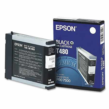 Epson T480 Black Original Ink Cartridge (T480011)