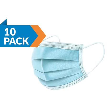 3-ply Medical Disposable High Quality Face Masks (Ear-loop) Pack of 10
