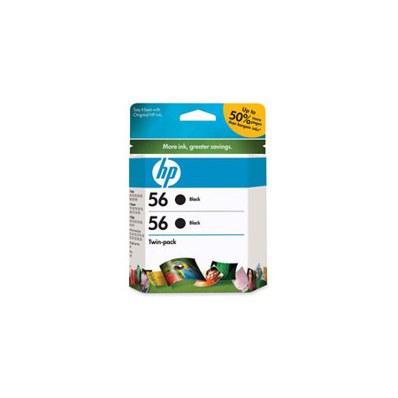 HP 56 Twinpack Original Black Cartridge (C9319FN)