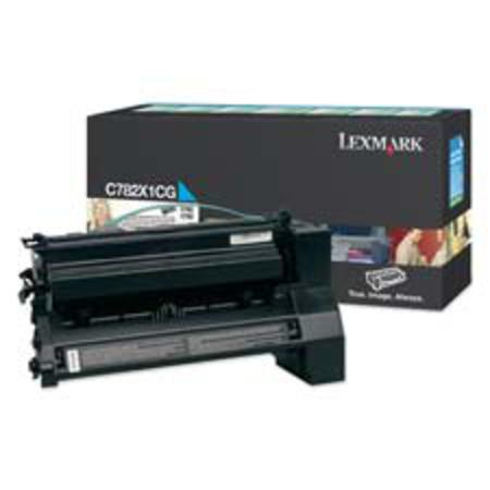 Lexmark C782X1CG Original Cyan Extra-High Yield Return Program Toner Cartridge