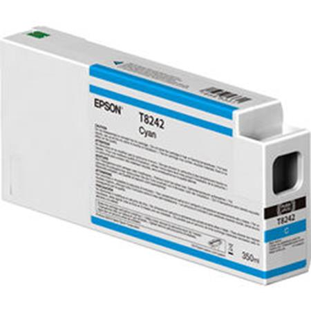 Epson T8242 (T824200) Cyan Original UltraChrome HDX Ink Cartridge (350 ml)