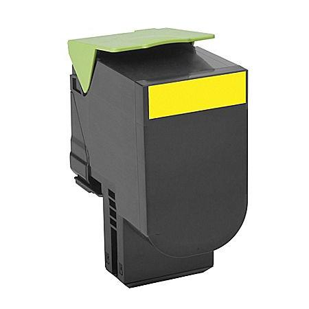 Compatible Yellow Lexmark 80C1XY0 Extra High Yield Toner Cartridge