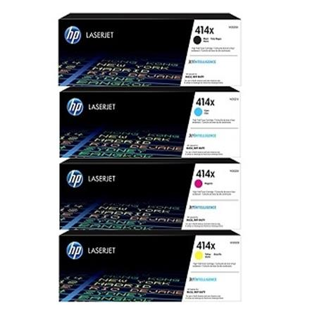 HP 414X Full Set Original High Capacity Toner Cartridges