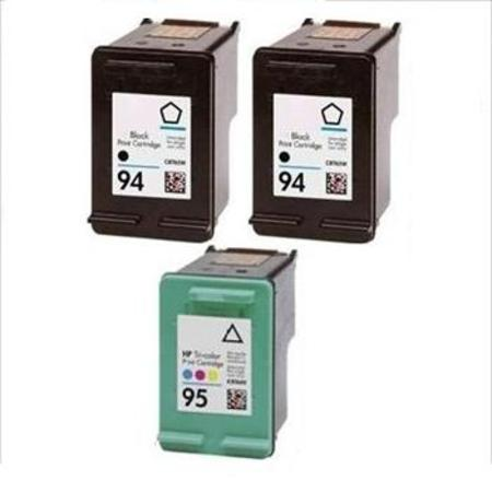 94/95 Full Set + 1 EXTRA Black Remanufactured Inks