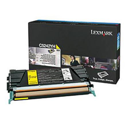Lexmark C5242YH Original Yellow High Yield Toner Cartridge
