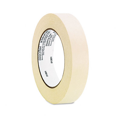 Universal General Purpose Masking Tape  1Inch x 60 yards  3Inch Core  3/Pack