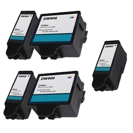 Compatible Multipack Dell DW905/DW906 2 Full Set + 1 EXTRA Inkjet Cartridges