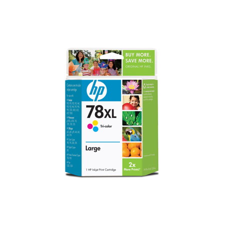 HP 78 Large Tri-Color Original Inkjet Print Cartridge (C6578AN)