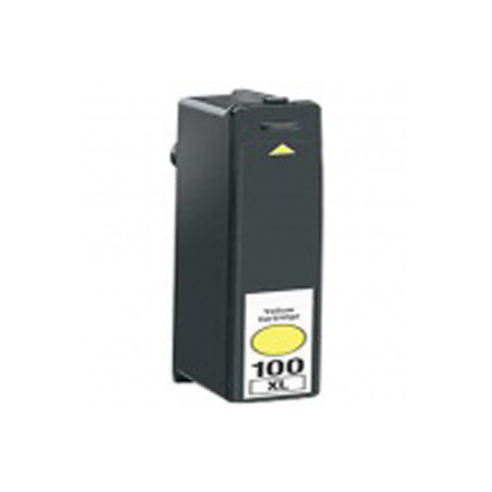 Lexmark 100XL (14N1071) Yellow Remanufactured High Yield Ink Cartridge-Newest Version