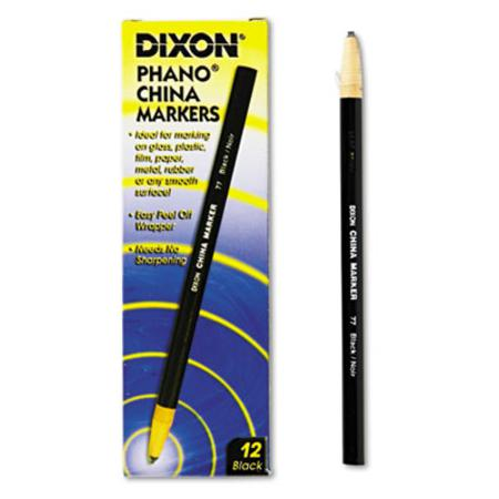 Dixon China Marker  Black  Dozen