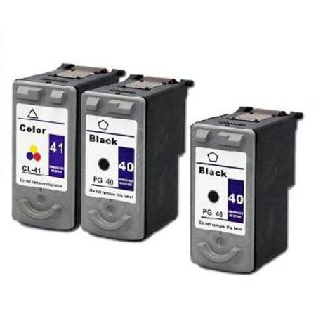 Clickinks PG-40/CL-41 Full Set + 1 EXTRA Black Remanufactured Inks