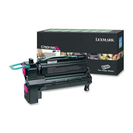 Lexmark C792X1MG Magenta Original Extra High Capacity Return Program Toner Cartridge