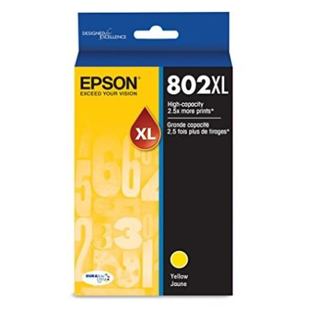 Epson T802XL Yellow Original High Capacity Ink Cartridge