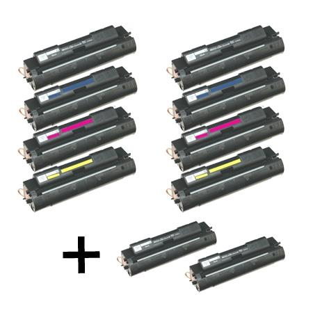 Compatible Multipack HP C4191A/94A 2 Full Sets + 2 EXTRA Black Toner Cartridges
