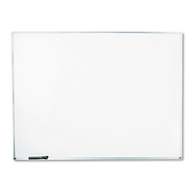 Dry-Erase Board Melamine 48 x 36 White Satin-Finished Aluminum Frame