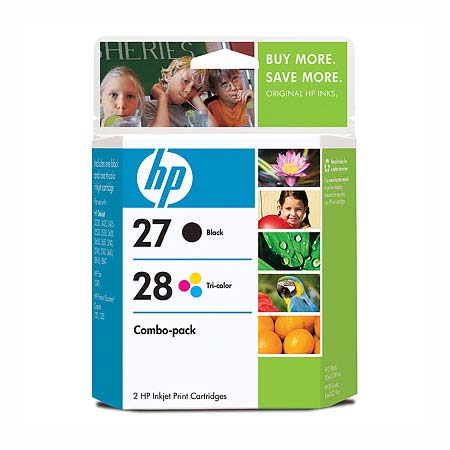 HP 27/28 Original Inkjet Cartridge Combo Pack (C9323BN)
