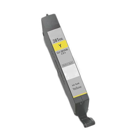 Compatible Yellow Canon CLI-281YXXL Ink Cartridge (Replaces Canon 1982C001)