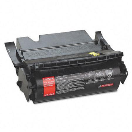 Lexmark 12A7365 Black Remanufactured Toner Cartridge
