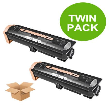Compatible Twin Pack Black Okidata 52117101 Toner Cartridges