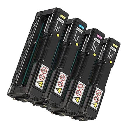Compatible Multipack Ricoh 406044/46/47/48 BK/C/M/Y Full Set Toner Cartridges