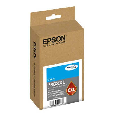 Epson 788XXL Cyan Original Extra High-Capacity Ink Cartridge