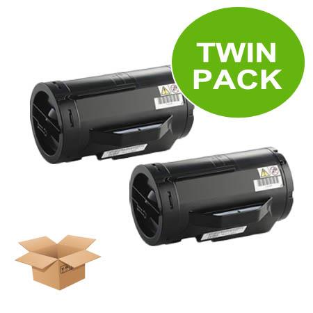 593-BBML Black Remanufactured Standard Capacity Toners Twin Pack