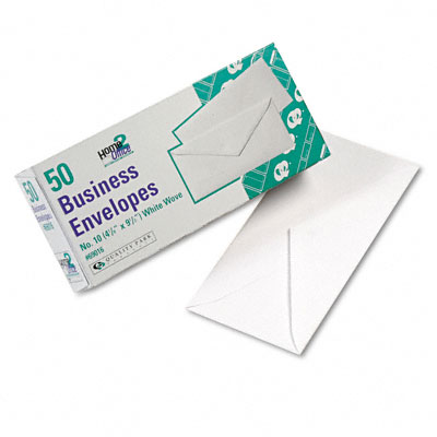 Quality Park White Wove Business Envelope Convenience Packs  V-Flap  #10  50/Box