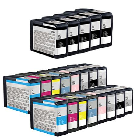 Compatible Multipack Epson T5801/T5809 2 Full Set + 3 EXTRA Black Ink Cartridges