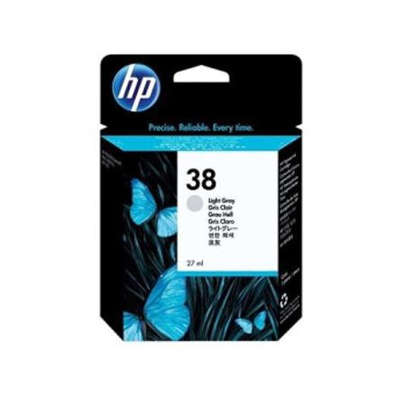 HP 38 Light Grey Pigment Original Inkjet Print Cartridge with Vivera Ink (C9414A)