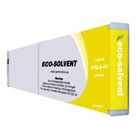 Roland ESL4-4YE Yellow Compatible Eco-Sol  MAX 2 High Capacity  Ink Cartridge