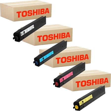 Toshiba TFC200UK Full Set Remanufactured Toner Cartridges