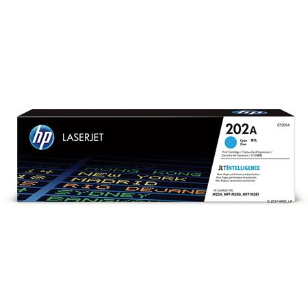 HP 202A Cyan Original Standard Capacity Toner Cartridge (CF501A)