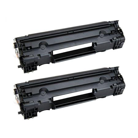Clickinks 83A Black Remanufactured Micr Toner Cartridges Twin Pack