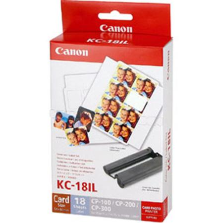 Canon KC-18IL Color Ink Cartridge/ Sticker Set (Each card size sheet is of 8 small label stickers)