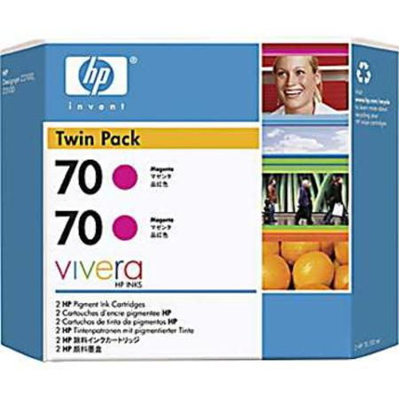 HP 70 (CB344A) Original Magenta Ink Cartridge (Twin Pack)