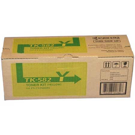 Kyocera-Mita TK-582Y Yellow Original Toner Cartridge