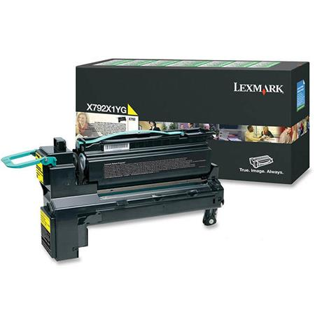 Lexmark X792X1YG Yellow Original Extra High Capacity Return Program Toner Cartridge