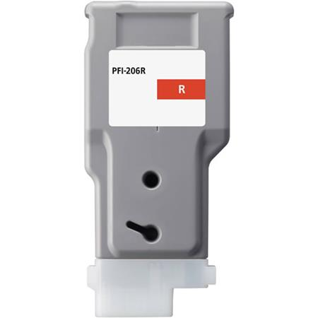 Compatible Red Canon PFI-206R Ink Cartridge (Replaces Canon 5309B001AA)