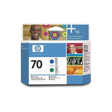 HP 70 Original Blue and Green Printhead (C9408A)