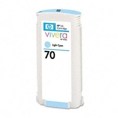 HP 70 Remanufactured Light Cyan ink Cartridge (C9390A)