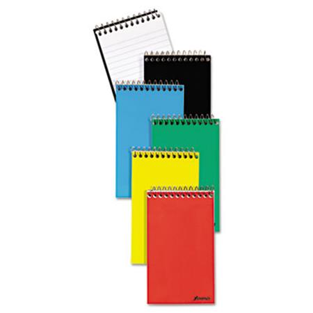 Ampad Wirebound Pocket Memo Book  Narrow  3 x 5  White  60 Sheets  3 Pads/Pack